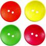 Treknapper, dia. 25 mm, hullstr. 2 mm, 80 stk., neonfarger, Kinesisk Bærtre
