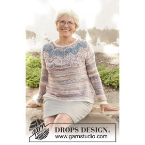 Egyptian Feathers av DROPS Design - Genser Strikkeoppskrift str. S - XXXL
