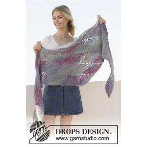 Lamella av DROPS Design - Sjal Strikkeoppskrift 176x50 cm