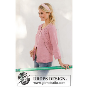 Sweet Heather Jacket av DROPS Design - Jakke Strikkeoppskrift str. S - XXXL