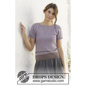 Lonely Horizon av DROPS Design - Topp Strikkeoppskrift str. S - XXXL