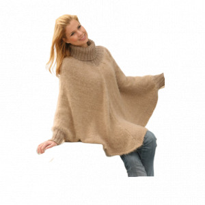 Hometown by DROPS Design - Poncho Strikkeoppskrift S - XXXL