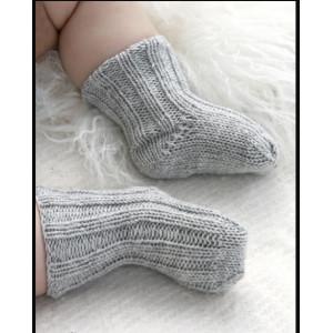 Baby Booties by DROPS Design - Baby Strømper Strikkeoppskrift str. 1 mdr - 4 år
