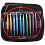 Infinity Hearts Utskiftbare Rundpinnesett Rød 60-120cm 2,75-10mm - 13 størrelser