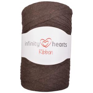Infinity Hearts Ribbon Stoffgarn 10 Mørkebrun