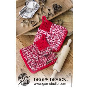Let's Bake by DROPS Design - Grytekluter Strikkeoppskrift 18x18 cm