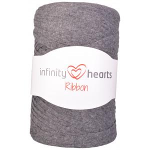 Infinity Hearts Ribbon Stoffgarn 06 Mørkegrå