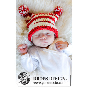 Tiny Elf by DROPS Design - Lue Hekleoppskrift str. 0 mnd-4 år