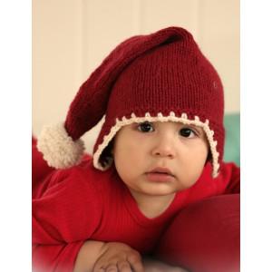 Santa Baby by DROPS Design - Baby Nisselue Strikkeoppskrift str. 1 mdr - 4 år