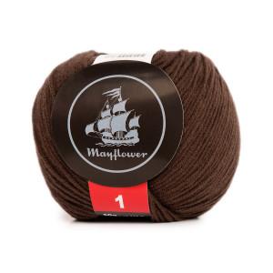 Mayflower Cotton 1 Garn Unicolor 166 Jordbrun