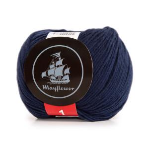 Mayflower Cotton 1 Garn Unicolor 163 Admiralblå