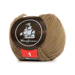 Mayflower Cotton 1 Garn Unicolor 159 Lys Oliven
