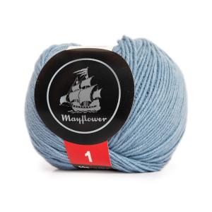 Mayflower Cotton 1 Garn Unicolor 154 Lys Blå