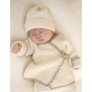 Bedtime Stories by DROPS Design - Baby Jakke Strikkeoppskrift str. prematur - 4 år
