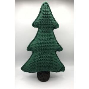 Juletre i stoffgarn av Rito Krea - Julepynt Hekleoppskrift 50cm