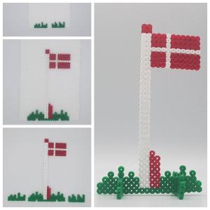 Perleflagg av Rito Krea - Perlemønster Dannebrogsflagg