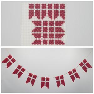 Flaggrekke av Rito Krea - Perlemønster Flaggrekke med Dannebrog
