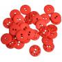 Knapper Plast Rød 11mm - 40 stk