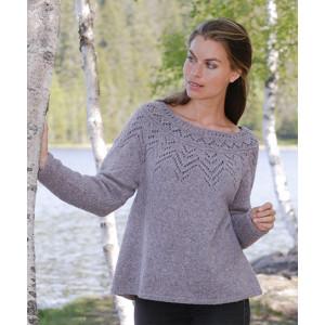 Agnes Sweater by DROPS Design - Bluse Strikkeoppskrift str. S - XXXL