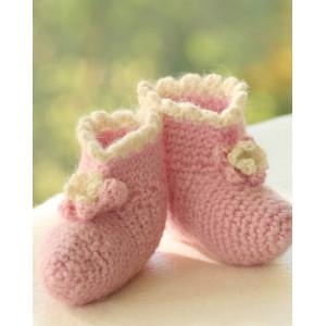 Princess Boots by DROPS Design - Baby Tøfler Hekleoppskrift str. 1 mdr - 4 år