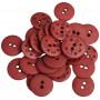 Knapper Plast Bordeaux 15mm - 30 stk