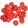 Knapper Plast Rød 15mm - 30 stk