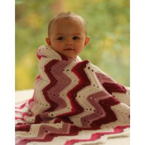 Baby Snug by DROPS Design - Teppe Hekleoppskrift 65/75 x 83 cm