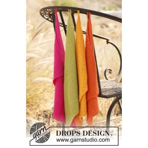 Summer Spices by DROPS Design - Håndklær Strikkeopskrift 31x45 cm