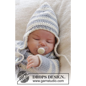 Baby Blues Hat by DROPS Design - Baby Lue Hekleoppskrift str. 0/3 mdr - 2/4 år