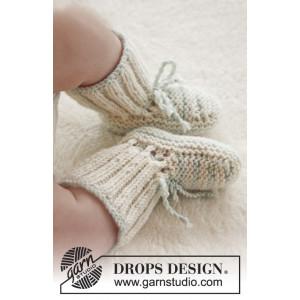 First Impression Booties by DROPS Design - Baby Tøfler Strikkeoppskrift str. prematur - 3/4 år
