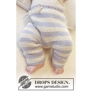 Heartthrob Pants by DROPS Design - Baby Bukser Hekleoppskrift str. 1 mdr - 4 år