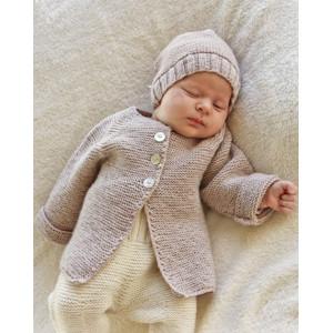 Sleep Tight by DROPS Design - Baby Jakke med raglan Strikkeoppskrift str. Prematur - 4 år