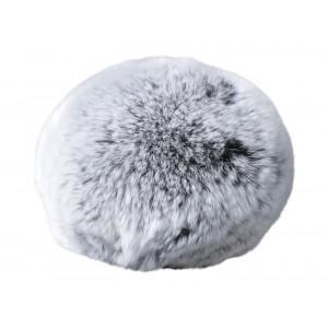 Pompon Dusk Rex Kaninhår Grå 100 mm