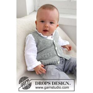 Junior by DROPS Design - Baby Vest Strikkeoppskrift str. 1/3 mdr - 3/4 år
