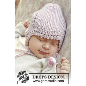 Lullaby by DROPS Design - Baby Lue Strikkeoppskrift str. 1 mdr - 4 år