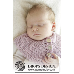 Serene by DROPS Design - Baby Halsrør Strikkeoppskrift str. 0 mdr - 4 år