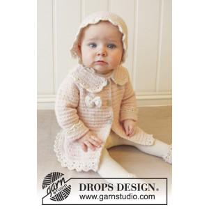 Little Lady Rose by DROPS Design - Baby Jakke Hekleoppskrift str. 0/1 mdr - 3/4 år