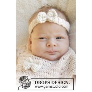 Baby Butterfly by DROPS Design - Baby Hårbånd Hekleoppskrift str. 1 mdr - 4 år