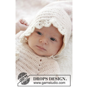 Camille by DROPS Design - Baby Kyse Hekleoppskrift str. 0/1 mdr - 3/4 år