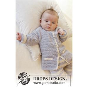 Heartthrob by DROPS Design - Baby Jakke Hekleoppskrift str. 1/3 mdr - 3/4 år