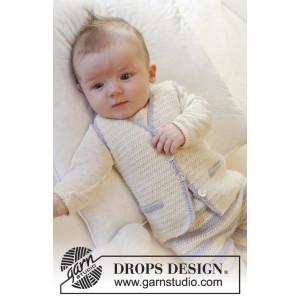 Heartthrob Vest by DROPS Design - Baby Vest Hekleoppskrift str. 1 mdr - 4 år