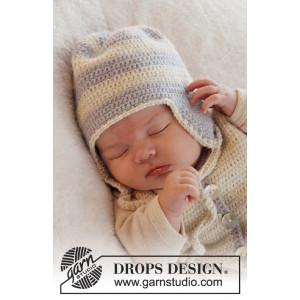 Heartthrob Hat by DROPS Design - Baby Lue Hekleoppskrift str. 1/3 mdr - 3/4 år