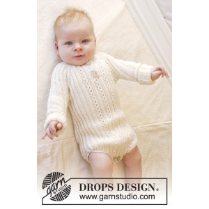 Simply Sweet by DROPS Design - Baby body Strikkeoppskrift str. Prematur - 3/4 år