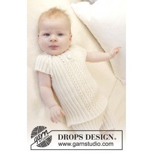 Simply Sweet Singlet by DROPS Design - Baby undertrøye Strikkeoppskrift str. Prematur - 3/4 år