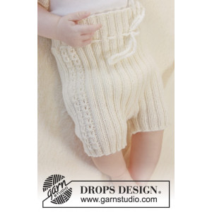 Simply Sweet Shorts by DROPS Design - Baby shorts Strikkeoppskrift str. Prematur - 3/4 år