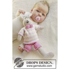 Mrs. Bunny by DROPS Design - Baby Bamse Strikkeoppskrift