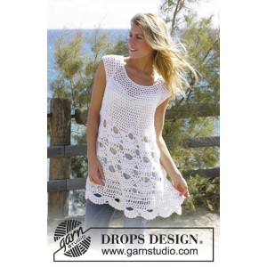 Breath of Summer by DROPS Design - Tunika Hekleoppskrift str. S - XXL