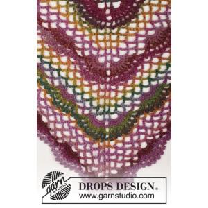 Summer Fling by DROPS Design - Sjal Hekleoppskrift 80x160 cm