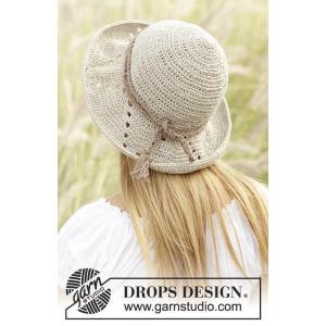 My Girl by DROPS Design - Hatt Hekleoppskrift 54/58 cm