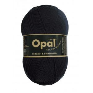 Opal Uni 4-trådet Garn Unicolor 2619 Sort / Svart